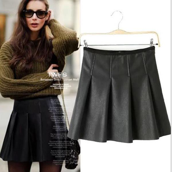 Amelly PU Leather Skirt - The Wild Flower Shop